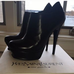 YSL Tribute Ankle Booties